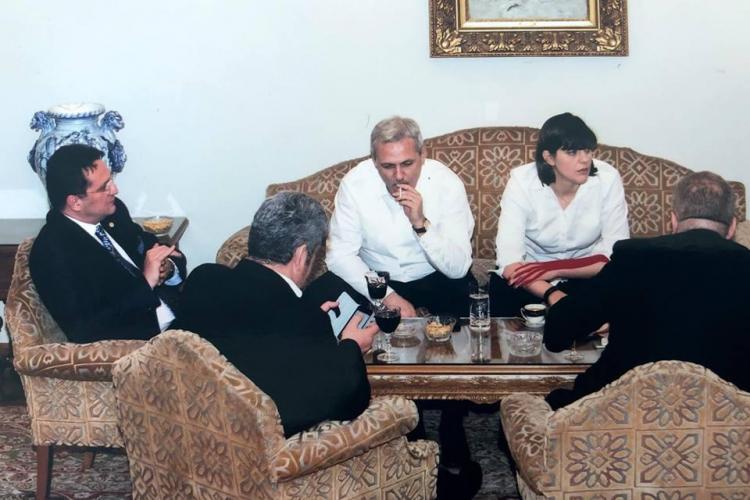 Ponta a postat o FOTOGRAFIE cu Dragnea lângă statul paralel: Maior, Kovesi și Oprea