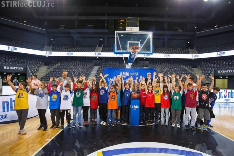 Liga Jr. NBA s-a inaugurat la Cluj, la BT Arena FOTO