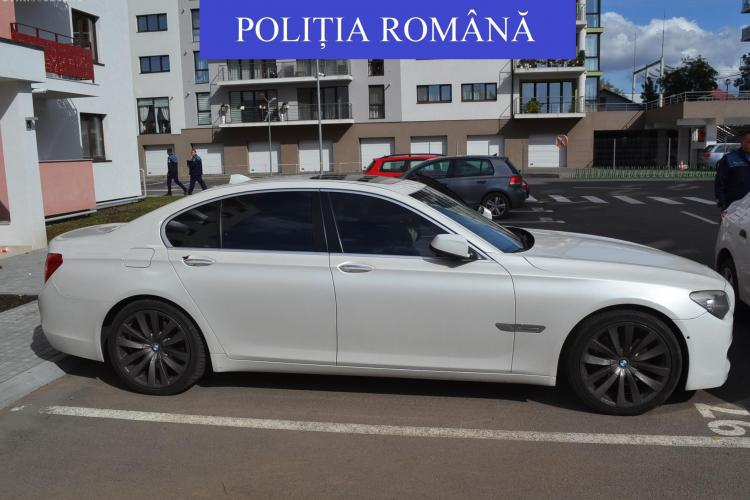 BMW sechestart de Poliția Cluj în urma unei spargeri comise în județ. Prejudiciul e mare - FOTO