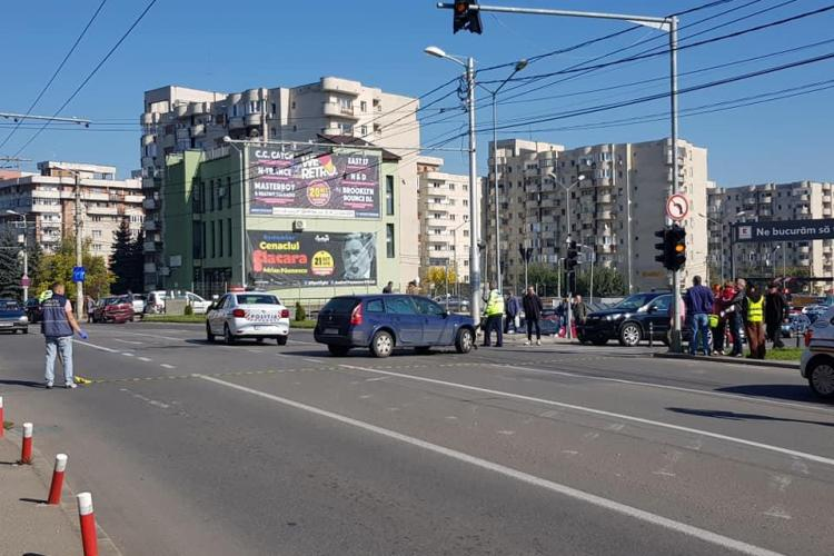 Accident la Kaufland Mănăștur. Trei mașini au fost implicate FOTO