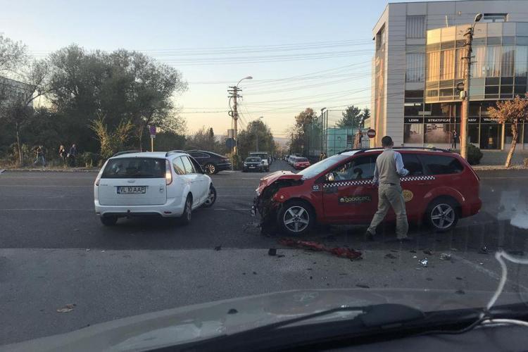 Ioan Pugna, unul dintre liderii taximetriștilor clujeni, rănit într-un accident de un șofer beat - FOTO