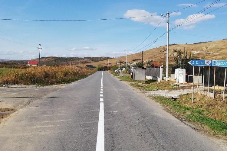 Consiliul Judeţean Cluj se laudă că trasează un drum - FOTO