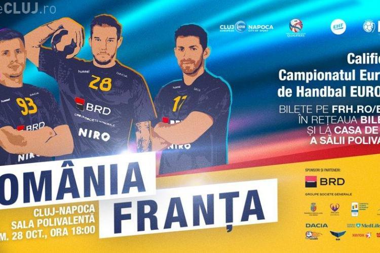 Meci de handbal de senzație, la Cluj!  România înfruntă campioana mondială, Franța