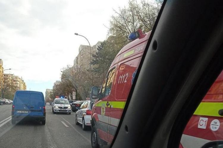 Motociclist accidentat pe Calea Florești FOTO
