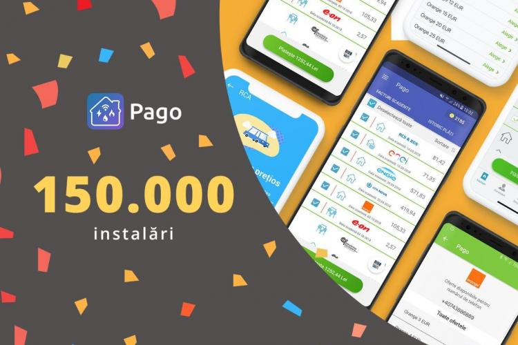 Aplicația Pago, descărcată de 150.000 de ori în decurs de un an