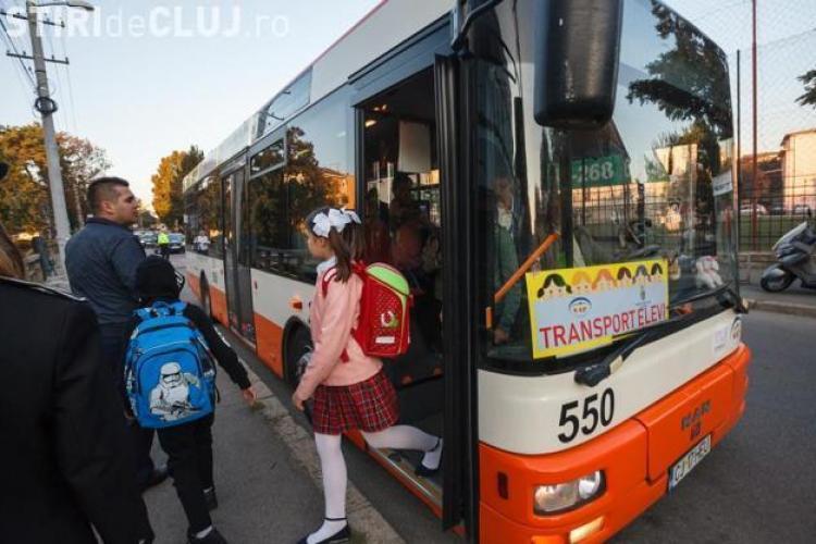 Autobuze școlare la Cluj. Câți copii folosesc autobuzele și din ce cartiere