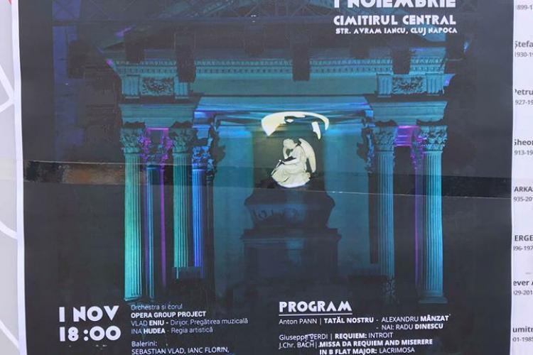 """Spectacolul """"Lacrimosa"""" în Cimitirul Central, în ziua de 1 noiembrie"""