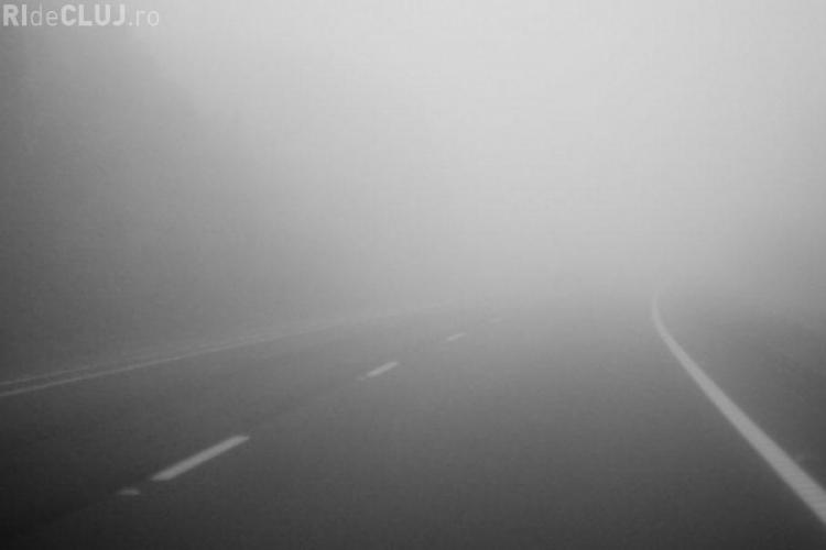 ATENȚIE în trafic! Clujul este sub cod galben de ceață