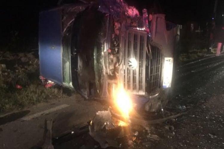CLUJ: Un șofer RUPT de beat la volan a cauzat un accident și a băgat o persoană în spital FOTO