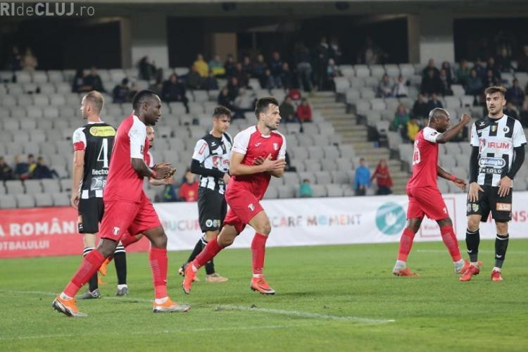 U Cluj - Astra 3-4. Clujenii au marcat de 3 ori în 8 minute, dar au pierdut - REZUMAT VIDEO