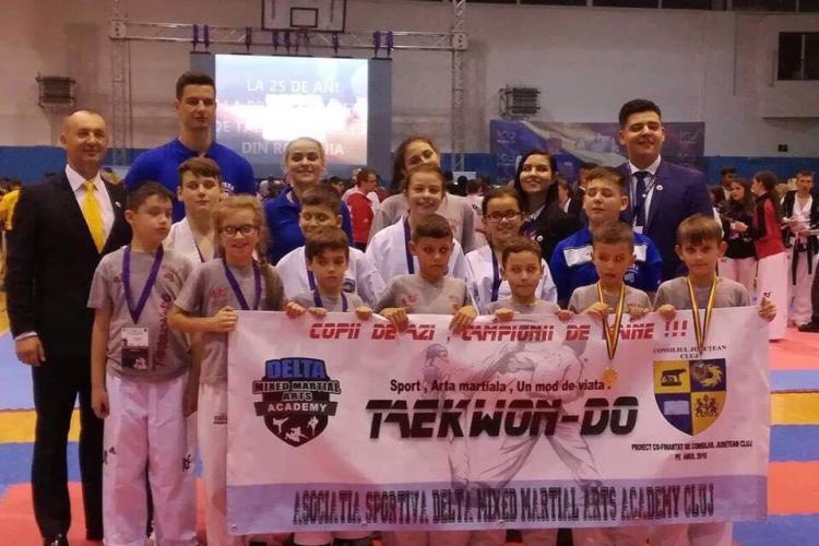 Sportivii de la ACS Delta MMA Cluj au câștigat 8 medalii de aur la Cupa României la Taeokwon-do ITF
