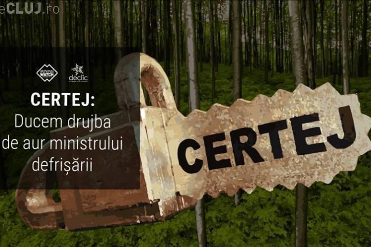 Ministrul Apelor și Pădurilor primește drujba de aur pentru defrișarea a 56 de hectare de pădure
