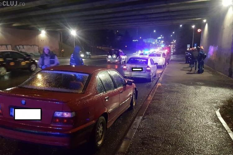 Accident în lanț la Podul N, pe Calea Florești, provocat de un șofer beat - FOTO