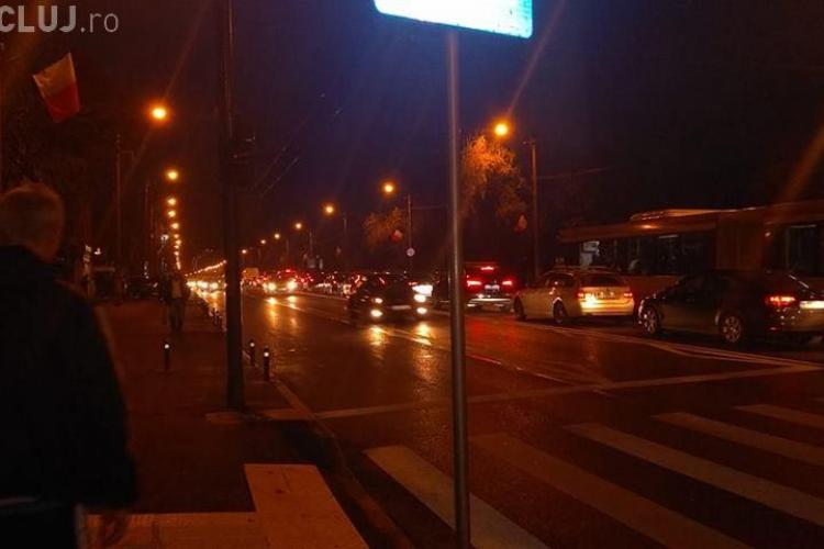 Trafic infernal în Mărăști, pe strada Aurel Vlaicu - FOTO
