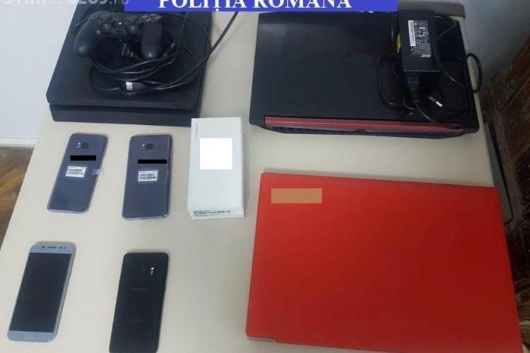 Hoț din magazine, prins de polițiștii clujeni tocmai la Sibiu. Au recuperat bunuri de câteva mii de euro FOTO
