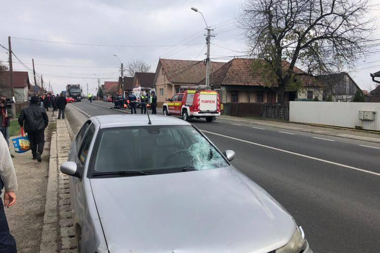 Ziua și accidentul mortal la Cluj! Un pieton a fost lovit în plin de mașină la Cuzdrioara FOTO