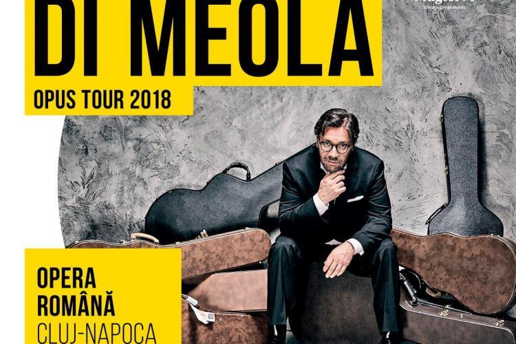 Al Di Meola revine în Cluj-Napoca într-un concert extraordinar de lansare a noului său album – Opus