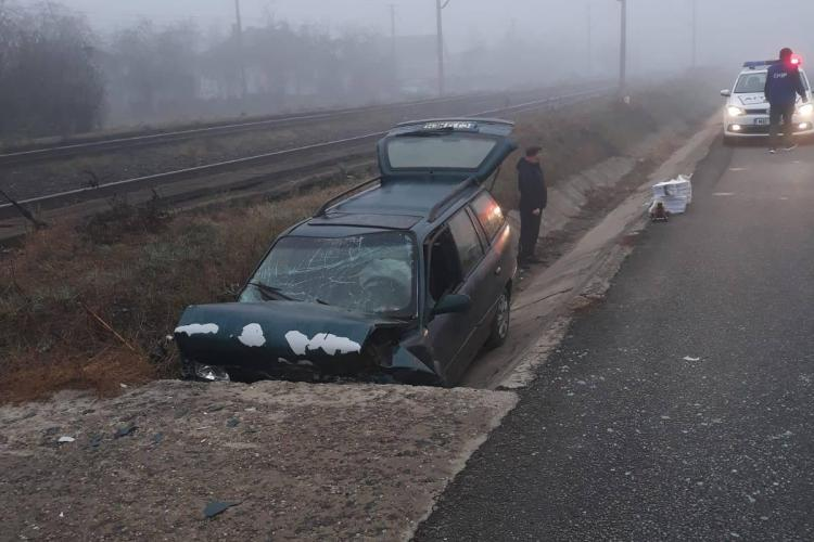 Accident la Livada, jud. Cluj. De ce a intrat într-un cap de pod? - FOTO