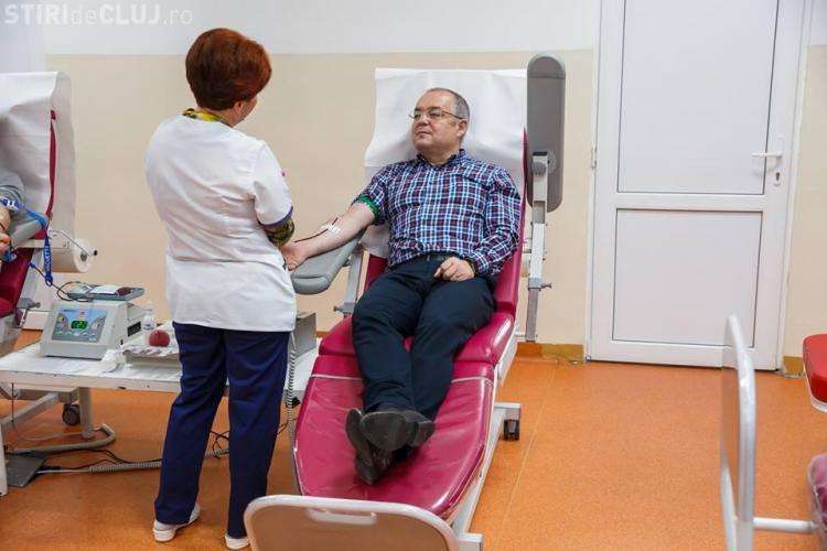 Boc s-a dus să doneze sânge - FOTO