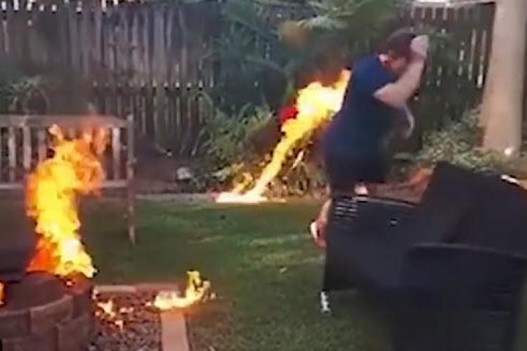 S-a dat mare că știe să facă focul și a ieșit un EȘEC total - VIDEO