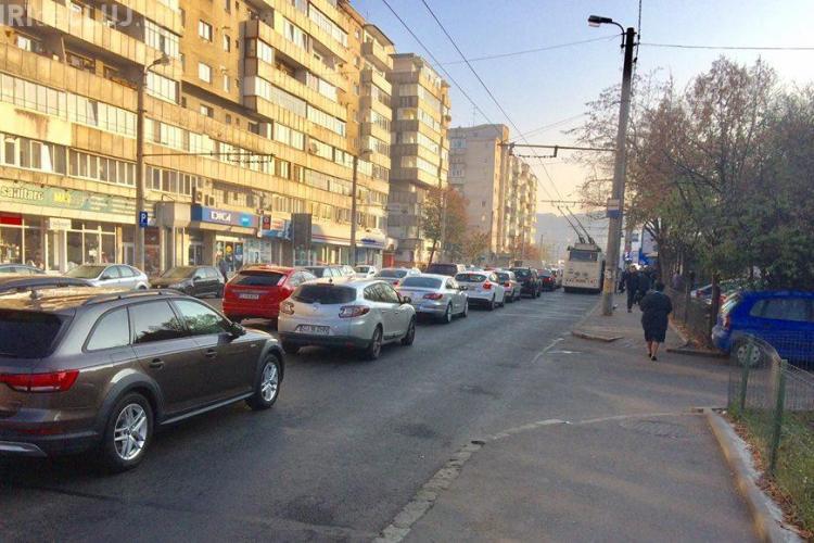 Haos în trafic în Mănăștur, marți dimineață FOTO