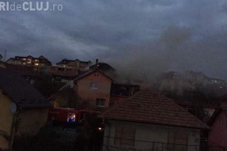 Incendiu la o casă din Baciu