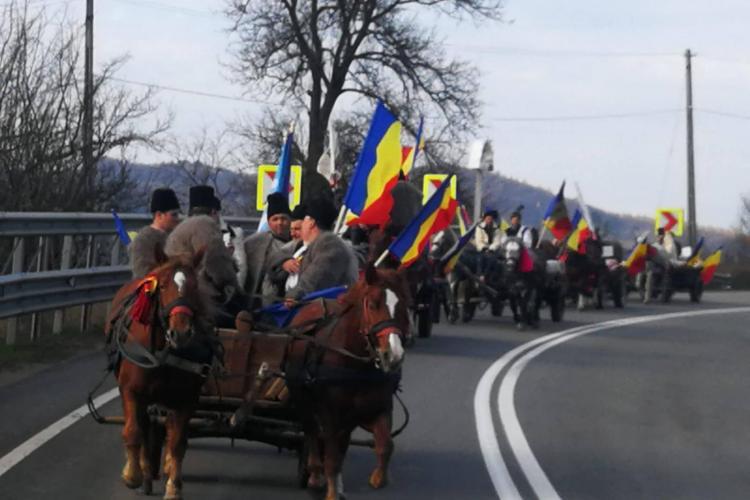Convoiul călăreților de la Sighetu Marmației străbate Clujul spre Alba - FOTO