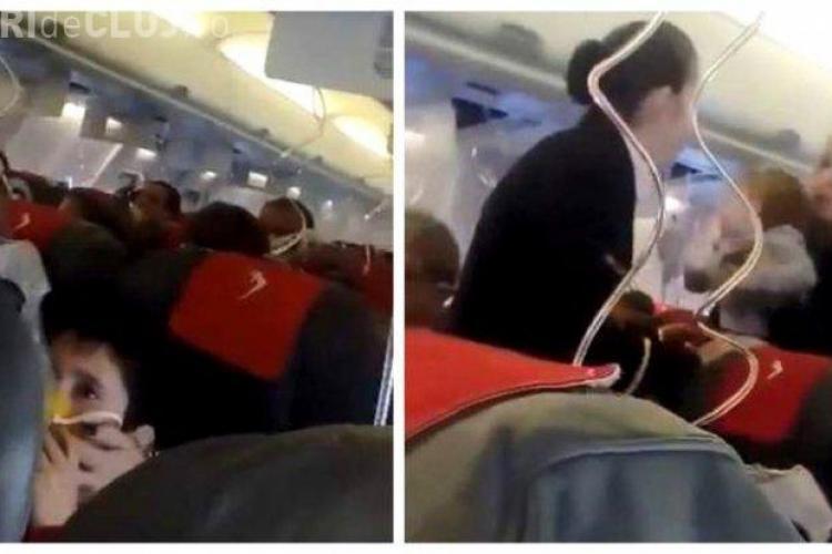 Panică într-un avion care zbura de la Cluj spre Dublin - VIDEO
