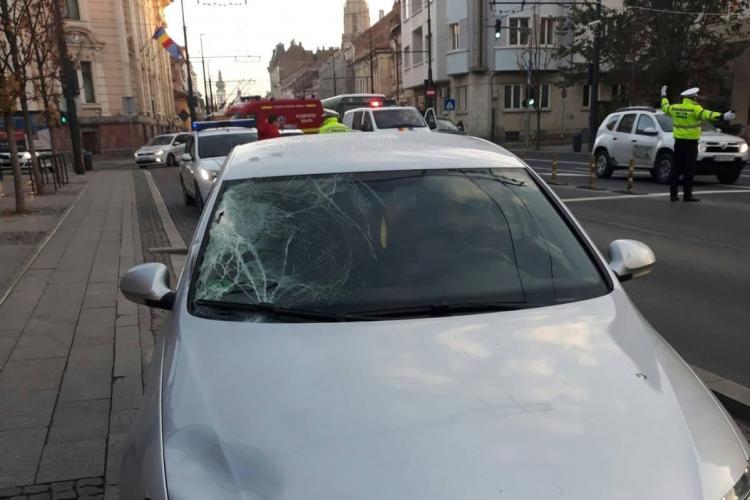 Tânără de 30 de ani lovită pe strada Memorandumului - FOTO