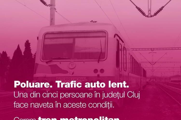 Mobilizare civică pentru tren metropolitan la Cluj! Bombardați Primăria cu sesizări