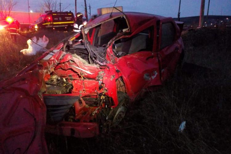 Mașină lovită de tren între Apahida și Jucu! O persoană a murit - VIDEO