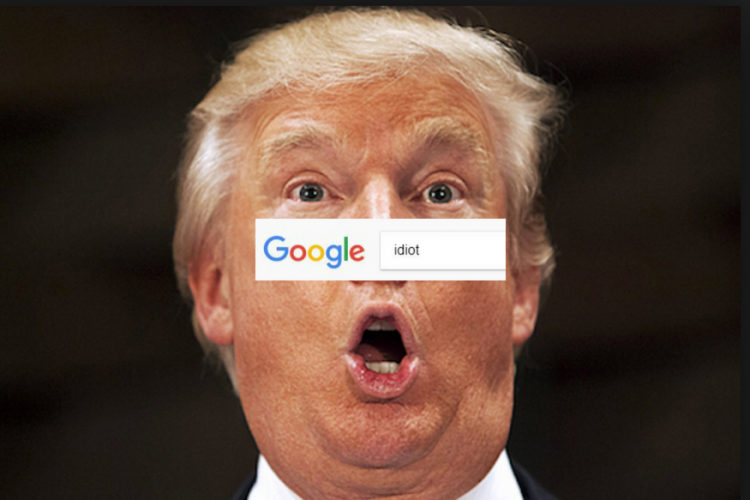 """Când cauți """"idiot"""" pe Google, îți apare poza lui Trump. Ce spune CEO-ul Google"""