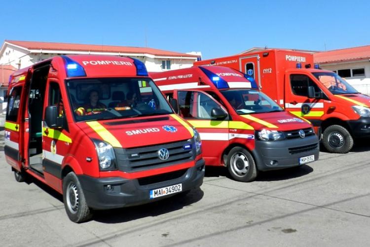 ISU Cluj primește 3 ambulanțe SMURD. SAJ Cluj primește alte 12 ambulanțe