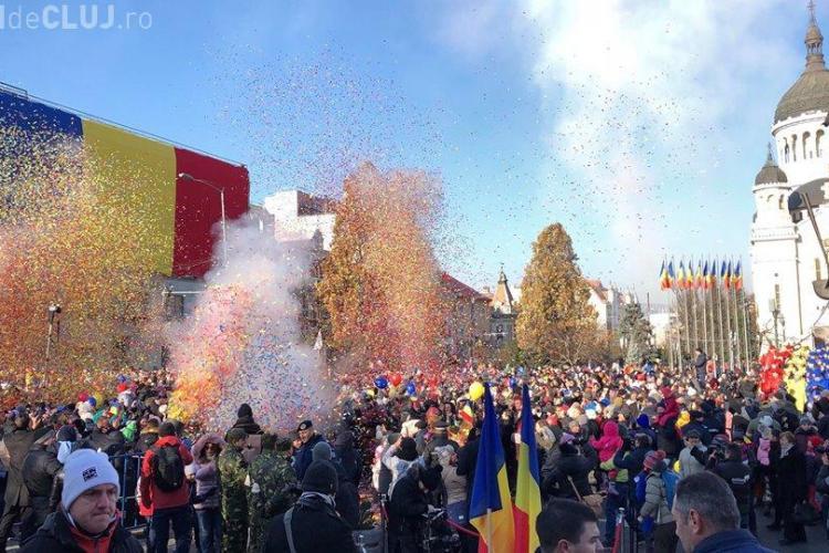 Artificii și defilări la Cluj de 1 Decembrie 1918. Care este programul întregii zile - VIDEO