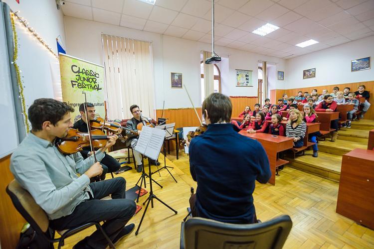 Muzica clasică pentru zece școli din Cluj-Napoca, la Classic Junior Festival