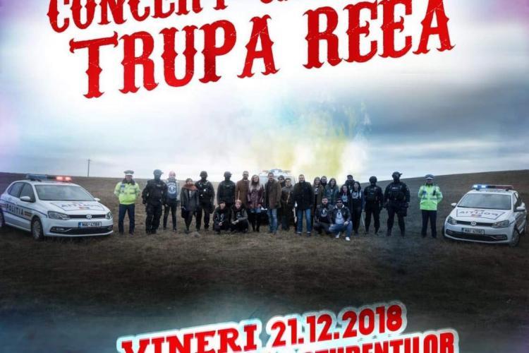 Concert caritabil cu Trupa Reea, organizat de Poliția Cluj și Beard Brothers