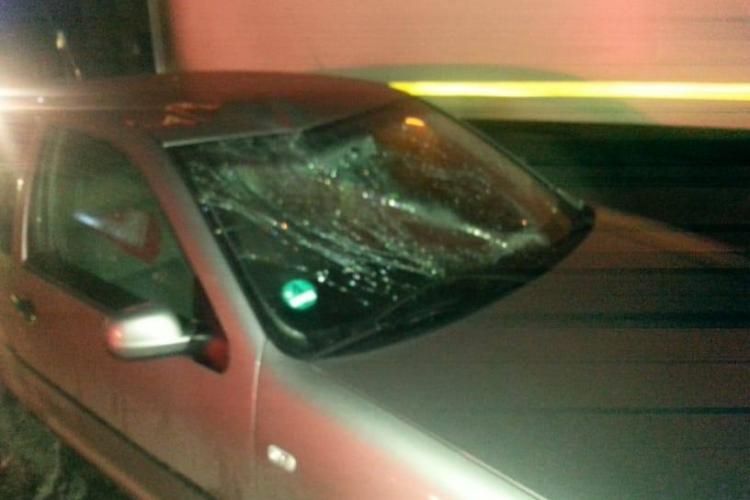 Accident în Gilău. Pieton spulberat pe trecerea de pietoni - VIDEO