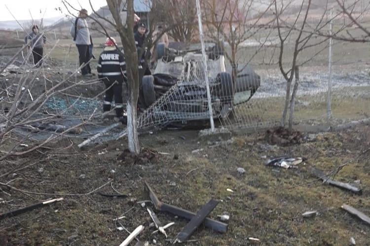 Accident mortal pe un drum din Cluj. Un șofer a adormit la volan FOTO