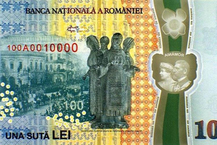A apărut o nouă bancnotă de 100 lei. Este DEOSEBITĂ