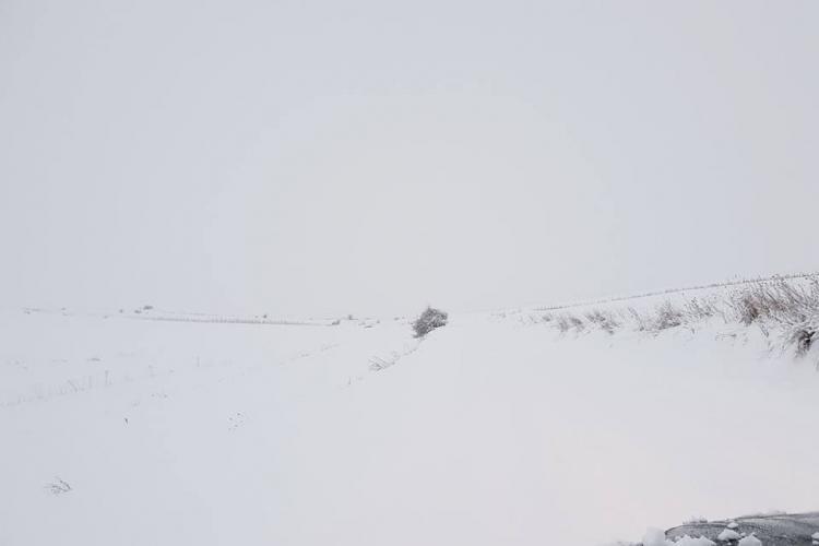 Așa arată drumul județean 107M, între Săvădisla-Săcel-Băişoara - FOTO