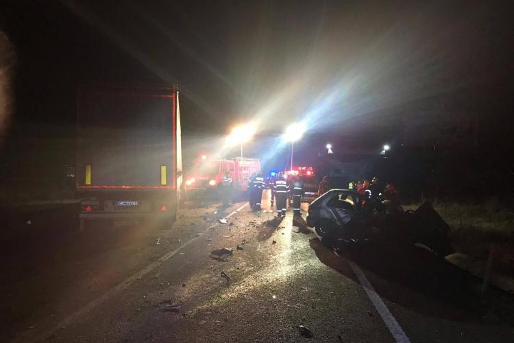 Accident MORTAL pe centura Apahida. Un șofer a intrat sub un TIR - FOTO