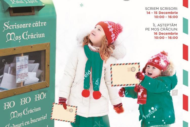 Scrie-i lui Moș Crăciun și Moșul îți aduce cadoul în Centrul Comercial Auchan Iris din Cluj