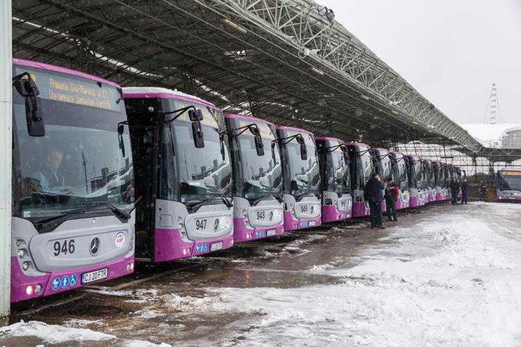 CLUJ: 30 de noi autobuze Mercedes puse în funcțiune FOTO