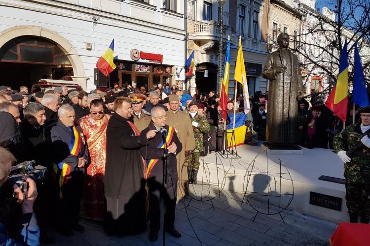 Pe Eroilor a fost dezvelit statuia Cardinalului Iuliu Hossu - FOTO