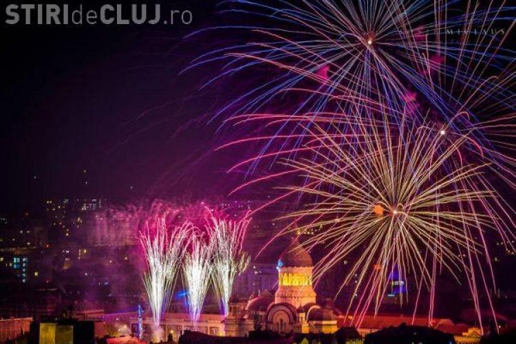 Cluj: Cum s-a văzut de pe Cetățuie, probabil, cel mai frumos foc de artificii din istoria orașului - FOTO