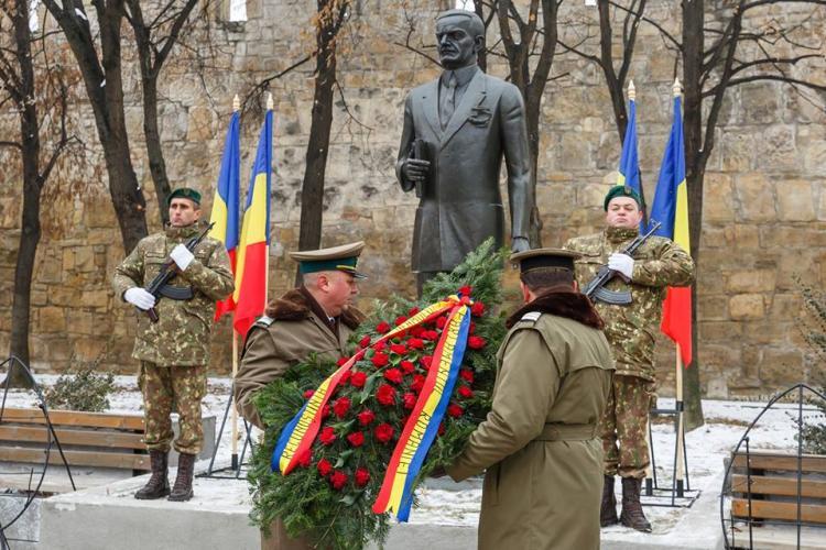 Statuia lui Iuliu Maniu, dezvelită la Cluj-Napoca FOTO