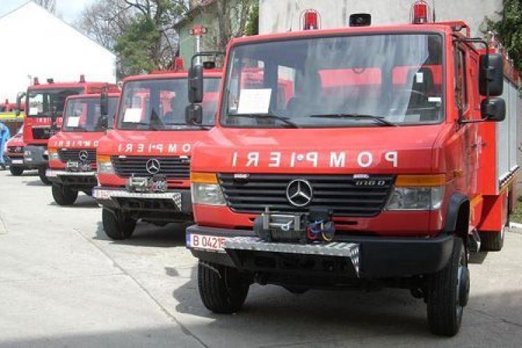 ISU Cluj a redus numărul intervențiilor pentru că mașinile sunt vechi