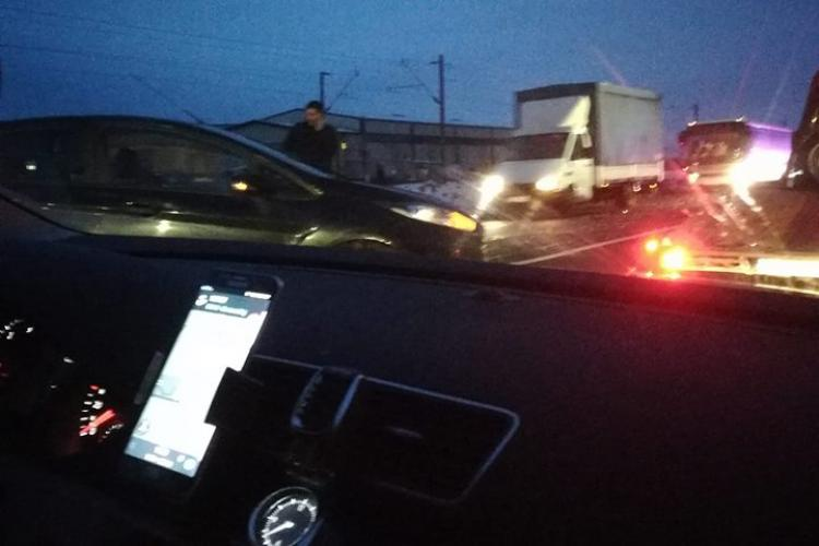 Accident la Apahida. Traficul a fost îngreunat FOTO