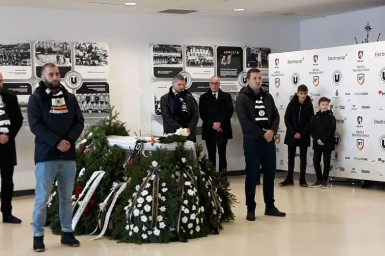 Nicolae Szoboszlay, fostul portar al U Cluj, a fost înmormântat. Momente emoționante - VIDEO