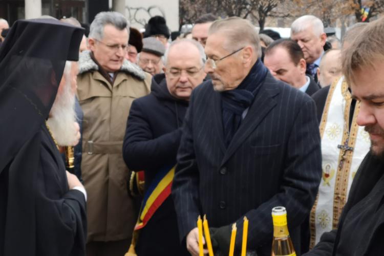 Statuia lui Iuliu Maniu, inaugurată la Cluj. Emil Constantinescu a vorbit despre dezbinare
